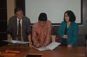 Kerjasama Binus dengan Fikom Unpad (Foto : Suwito)