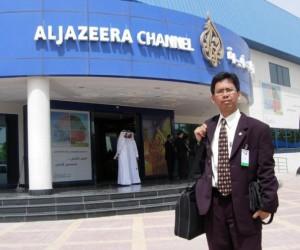 Arys Hilman di Depan AlJazeea Channel