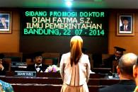 Pembacaan Judisium Diah Fatma.