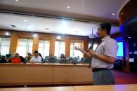Warek-3 Dr Med Setiawan,dr. dalam acara Sosialisasi Profil Sitasi