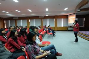 Suasana Launching Kepengurusan Hima Humas Periode 2015