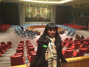 Siska saat menjadi peserta Harvard Model United Nations di AS. (Foto Ist).